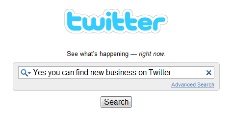 Using Twitter to find business
