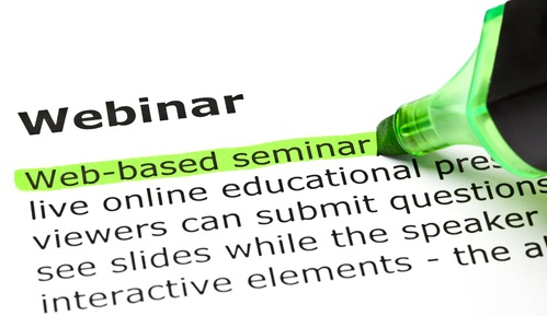 Webinar is a Web based seminar BYOB