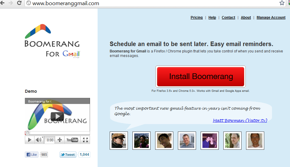 Boomerang for email