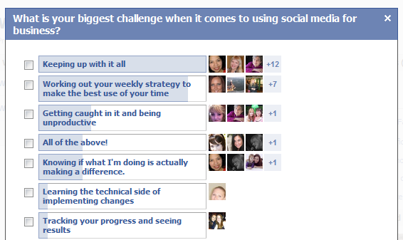 What is your biggest social media challenge