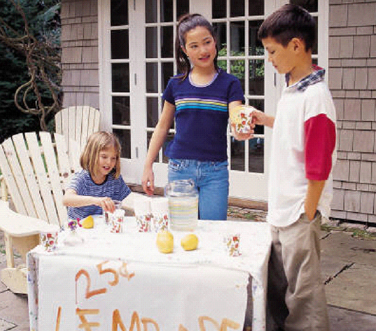 Lemonade stands and making money