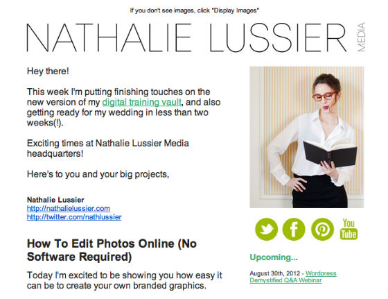 Nathalie Lussier email example