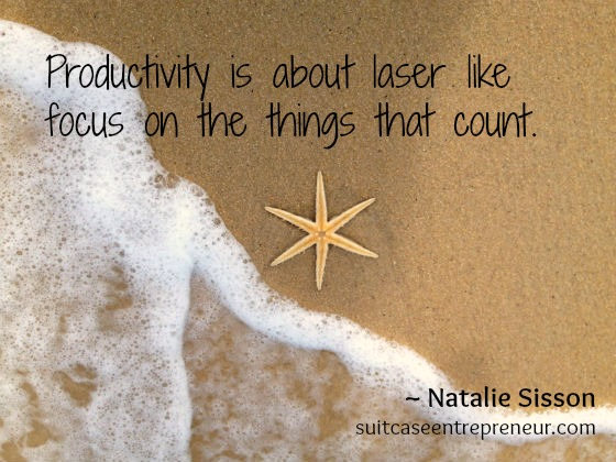 Productivity Starfish Natalie Quote