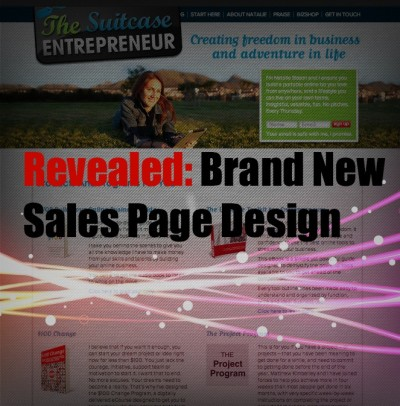 Brand New Sales Page Design