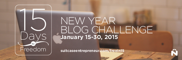 Join My 15 Days To Freedom New Year Blog Challenge