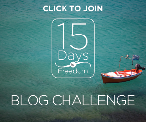 "15 Days to Freedom Blog Challenge"" width="