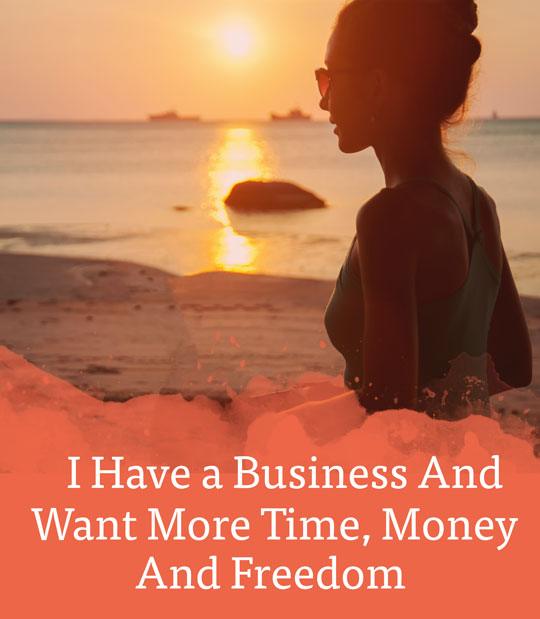 I have a business and want more time, money and freedom