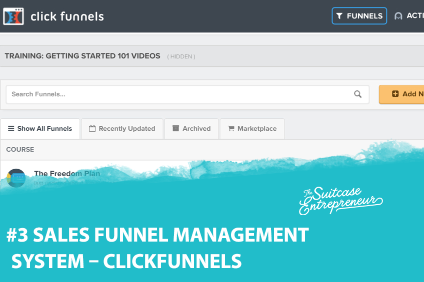 #3 Sales Funnel Management System - ClickFunnels