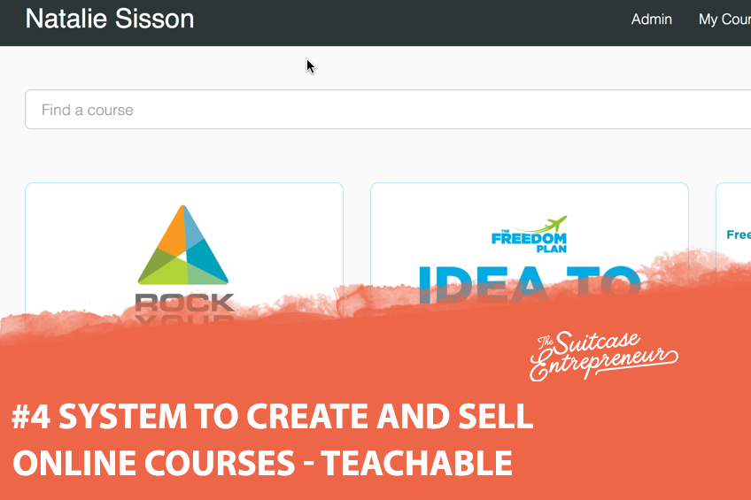 #4 System To Create And Sell Online Courses Teachable