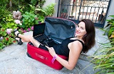 Natalie Sisson in her Suitcase