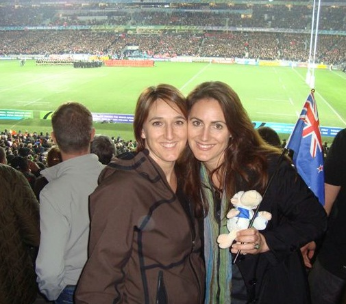 Sisters at the Opening Ceremony and Game 9 Sept 2011