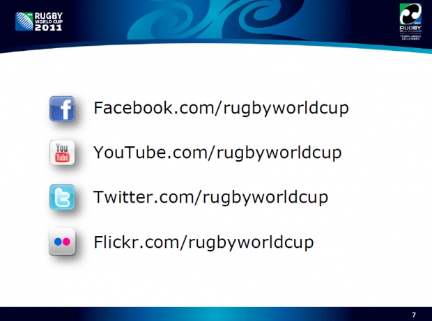 rugby world cup social media channels