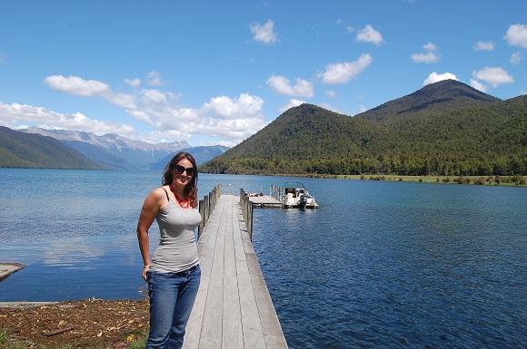 Natalie Sisson in the Beautiful Lake Rotoroa