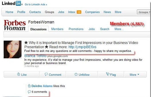 Forbes Women_Linkedin Group Screenshot
