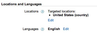 Locations & Languages with Google Adwords