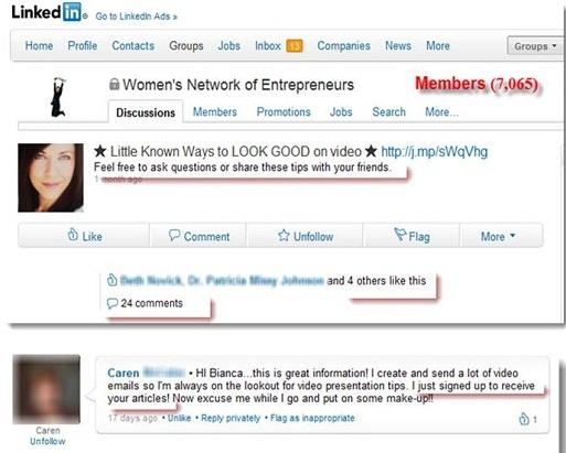 Womens Network Entrepreneurs Linkedin Group
