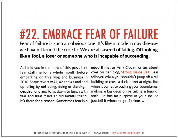 Lesson 22 embrace the fear of failure