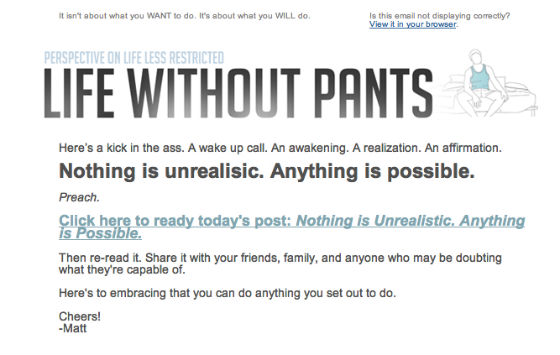 Life without pants rss email