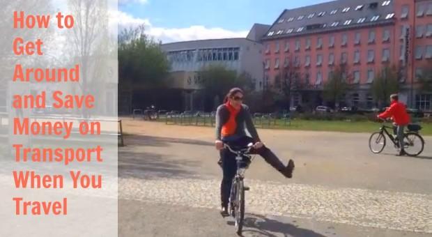 Natalie on a bike