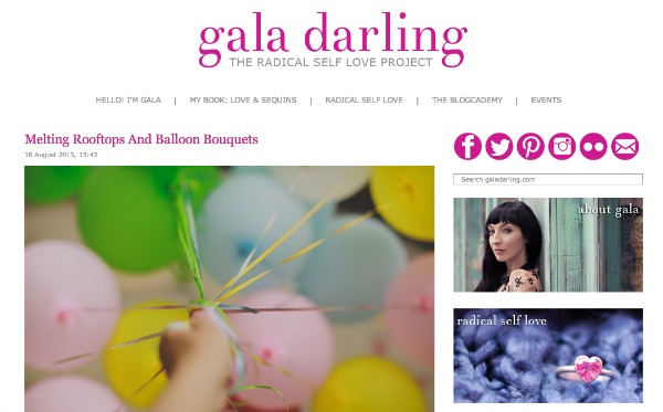 Gala Darling homepage