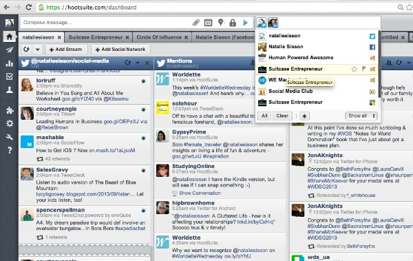 Hootsuite dashboard shot
