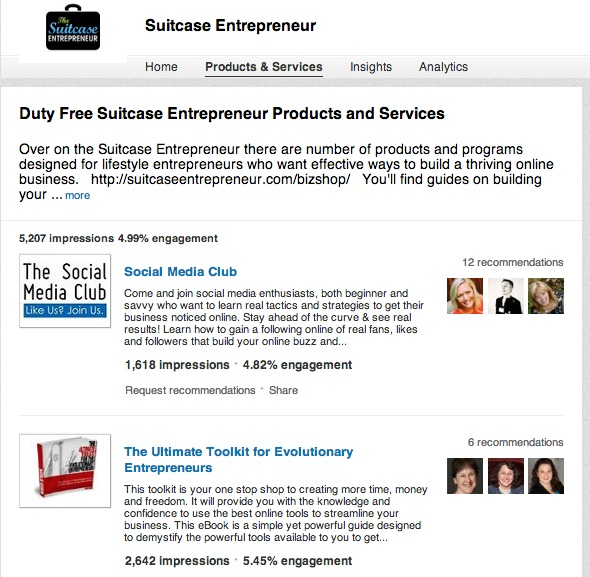 Suitcase Entrepreneur company page