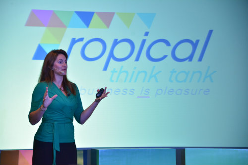 Natalie Sisson speaking on crowdfunding at Tropical Think Tank