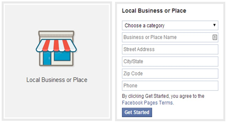 Facebook - Local Business or Place